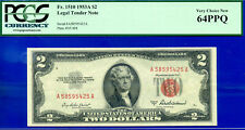1953-A $2 US Note (( 2 of 6 Consecutive )) PCGS New 64PPQ # A58595425A