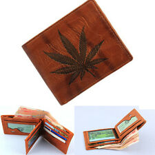 New Brown Men's Leather Wallet Zipper Coin Purse Card Holder Money Case {4}
