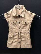 Girls Burberry Khaki Dress 3T 98cm Buttons Tie
