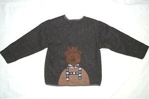 Spatzl mode Trachten Traditional Jacket Wool Gray Bear Kids Size 134