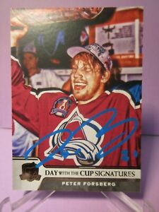 2019-20 THE CUP DAY WITH THE CUP BLUE INK AUTO PETER FORSBERG SSP 1:151 BOXES