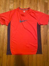 Nike Men's Dri Fit T Shirt Short Sleeve Red/ Blue Athletic Top SZ Large