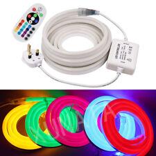 RGB Flex LED Neon Rope Light 20m Holiday Party Valentine Decor Strip 220V 240V