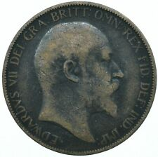 1903 ONE PENNY COIN EDWARD VII GREAT BRITAIN BEAUTIFUL COLLECTIBLE    #WT31312