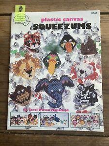 Squeezums ~ 32 Squeezies Kisses Kissies Plastic Canvas Pattern Booklet- P488