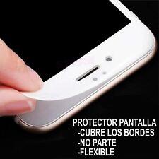 Protector pantalla flexible CRISTAL TEMPLADO ELASTICO compatible IPHONE 7 Blanco