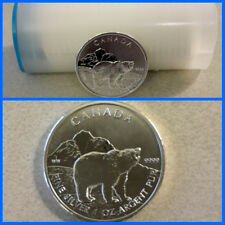 Roll Of 25 2011 Silver Canadian Grizzly Coin .999 1oz Wildlife Series UNC