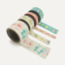 Baby Shower Decorative Self Adhesive Masking Washi Tape Sticky Paper Sticker Set