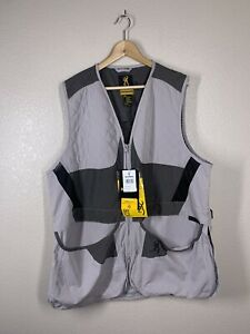 Browning Mens Summit Vest XL Gray Charcoal Shooting NEW