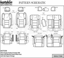 Toyota Tundra CrewMax Katzkin Leather Seat Replacement Covers Graphite Buckets