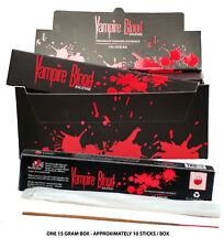 ONE 15 Gram Box VAMPIRE BLOOD INCENSE STICKS Devil's Garden Natural Organic