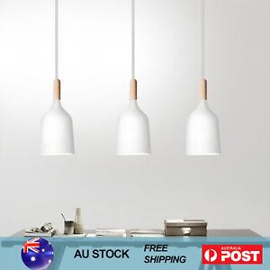 Nordic Kitchen Pendant Light Timber Dining Ceiling Lamp Workshop Light White