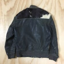 Vintage 80s Cohen Pony Skin and Black Leather Jacket Distressed Men's M AS IS