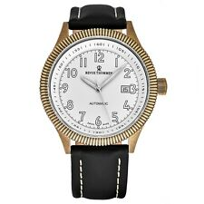 Revue Thommen Men's Airspeed Vintage Leather Strap Automatic Watch 17060.2582
