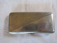 Vintage Russian Silver Cigarette Case Moscow Kokoshnik Mark Engraved 1919