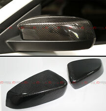 FOR 2010-2014 FORD MUSTANG GT DIRECT ADD-ON CARBON FIBER SIDE MIRROR COVER CAPS
