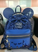 More details for euc disney loungefly mini backpack mmma peter pan minnie mouse main attraction
