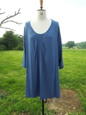 Flattering EXELLE Air Force Blue Stretch Tunic Top Plus Size 30 BNWT RRP £75.00