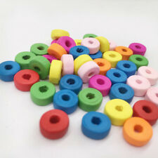100x mixed wooden spacer beading beads wood bead jewelry accessories ^*T hi