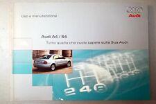 Manuale AUDI A4/S4 Uso e manutenzione ITALIANO PERFETTO MAI USATO aggiorn. 1999
