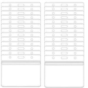 HOSL Waterproof Clear Plastic Name Tag Holder Badge ID Card Holders with Wate...