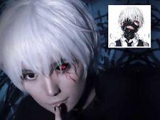 Tokyo Ghoul Kaneki Ken Short Silver White Cosplay Straight hair Wig Costume