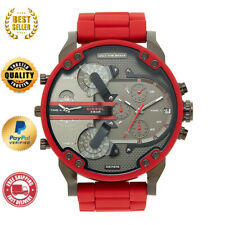 DIESEL DZ7370 MR BIG DADDY 2.0 RED MULTI TIME ZONE CHRONOGRAPH  MEN'S WATCH