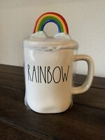 Rae Dunn Rainbow Coffee Mug With Topper *New 2021* HTF
