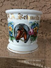 Antique Occupational Shaving Mug Horse Racing Equestrian Themed