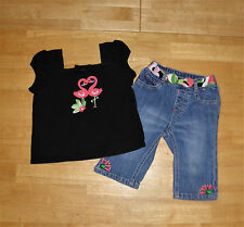 GYMBOREE PALM BEACH PARADISE BLACK TOP CROPPED PANTS GIRLS 2T SUMMER COTTON