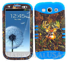 KoolKase Hybrid Silicone Cover Case for Samsung Galaxy S3 i9300 Camo Mossy Deer