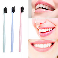 4pcs Ultra Soft Toothbrushes Bamboo Charcoal Nano Brush Oral Dental Care Tool