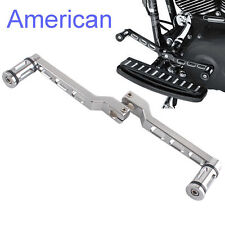 Silver Edge Cut Heel/Toe Shift Lever Shifter Peg For Harley Touring Softail