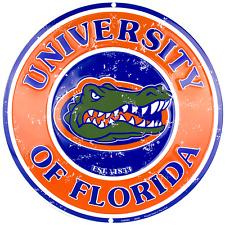 "Florida Gators Round Circular 12"" Sign Made in the USA"