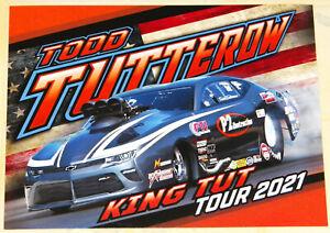 """TODD TUTTEROW`S KING TUT TOUR 2021"" PRO MOD CHEVY CAMARO DRAG RACING HANDOUT!!"