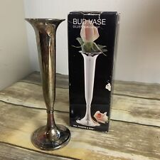 "Silver Plated Vintage bud vase 7"" WM. Roger & Son No. 00110399"