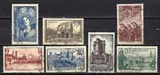 France 1938 sites et monuments Yvert n° 388 à 394 oblitéré 1er choix (1)