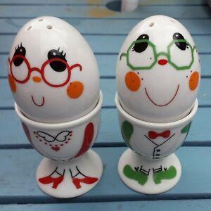Vintage novelty egg cups