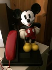 Vintage AT&T Mickey Mouse Walt Disney Push Button Trimline Telephone. Phone