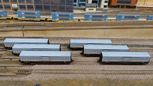 N Scale Red Caboose Beer Cars Set of 6