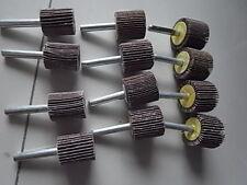 Schleifstifte Fächerschleifer 6 mm Schaft 12 Stück gemischtes Korn ETFS-SETMIX2