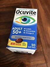 Ocuvite adult 50+ vitamin mineral supplement 50 count soft gels
