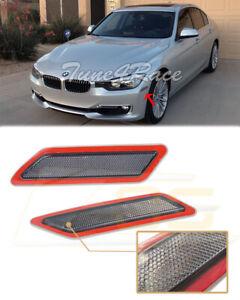 For 13-15 BMW F30 F31 3-Series Base Bumper Reflector Smoke Side Marker Lights