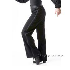 Men's Ballroom Latin Dance Pants Jazziness Samba Modern Dance Stage Dress Black