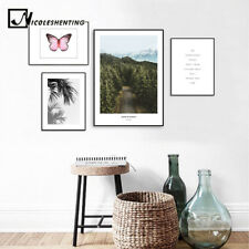 Forest Leaf Landscape Canvas Poster Nordic Wall Art Print Scandinavian Style