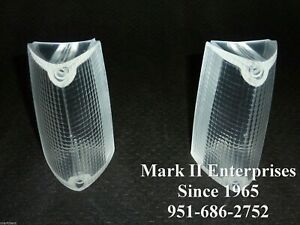 1972 72 Lincoln Mark IV Park Lamp Signal Lenses Left & Right Front NOS QUALITY