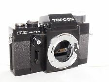 "Tokyo Kogaku Topcon RE Super 35mm SLR Film ""black paint"" Camera Body."