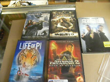 5 Fantasy Dvd s Van Helsing Life of Pi Beowulf & Grendel National Treasure 2
