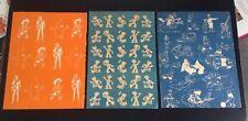 Lot de 3 anciennes pages de garde Tintin Spirou