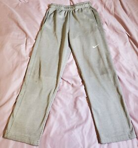 Boys NIKE ATHLETIC PANTS sz LARGE 10-12 Therma Fit GREY PULL ON euc